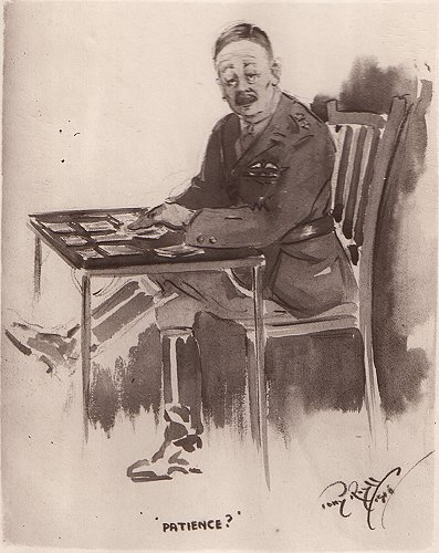 One of Toni Roylf's caricatures, the commanding officer of No. 5 School of Aeronautics at Denham, Colonel The Lord Alastair Robert Innes-Ker, brother of the 8th Earl of Roxburghe.
