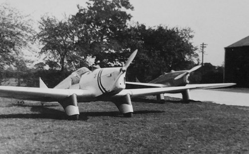 Sir John Holder's Miles M.2M Hawk Major with its enclosed rear cockpit was the second resident at Hawksridge.