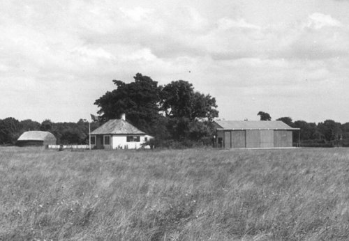 The bungalow in the north east corner of Hawksridge served as a club house, the first hangar, Hangar J, was constructed next to it facing south.