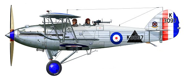 A Hawker Audax of 2 (Army Co-operation) Squadron. Two of these aircraft landed at Denham in July.