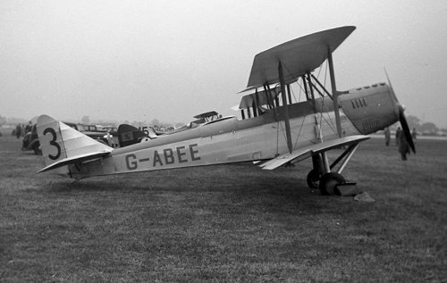 Ron Gillman and Dick Green restored this Avro 616 Avian Sport. Seen here at the Festival of Britain Air Races at Hatfield on 23 June 1951, only five days after its first post-restoration flight, the aircraft was a founder of the Vintage Aircraft Club and based at Denham for many years.