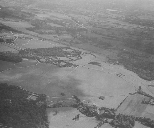 Denham Aerodrome in 1955 looking south east. Note the complete lack of houses in Denham Green.