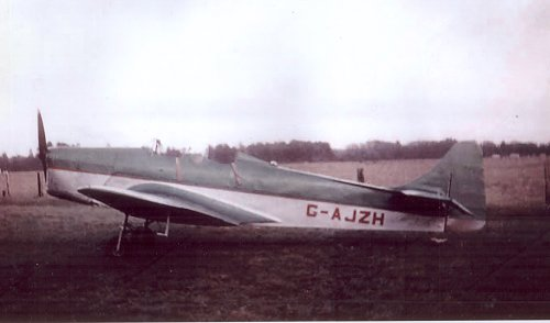 Miles M.14A Hawk Trainer III G-AJZH in a rare colour photograph after its 1955 repaint.