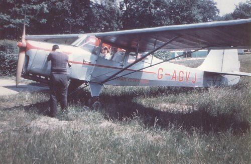 The Denham Flying Club purchased a new Auster J1N Alpha in September 1955, G-AGVJ.