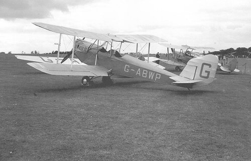 Spartan Arrow G-ABWP photographed at Denham in 1955.