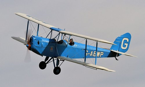 G-ABWP is still flying today, seen here at a Shuttleworth Air Show in 2017.