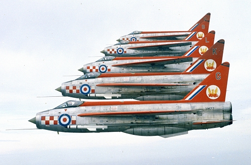 Brian was also a member of the 1963 Firebirds Aerobatic Team from 56(F) Squadron, flying displays all over Europe.