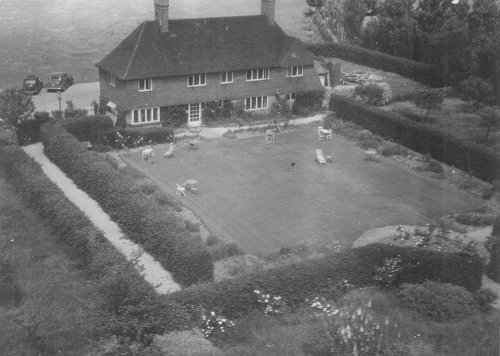 The Hawksridge restaurant and its gardens were popular with the flying club members for parties and social events.