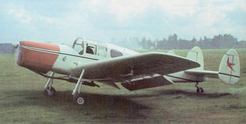 Miles M.38 Messenger 2A G-AKVZ seen at Denham in 1958. The aircraft belonged to Hector Laing and was often flown by the former Miles aircraft test pilot, Hughie Kennedy.