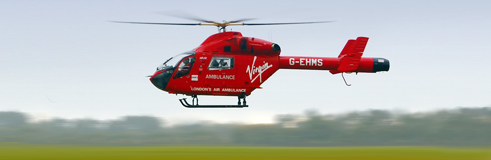G-EHMS Air Ambulance in flight